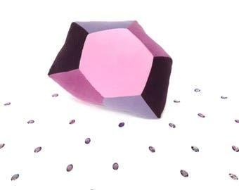 Purple Crystal Plush - Amethyst Birthstone Pillow - February Birthdays