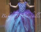 Aqua Dress Plum Dress Pur...