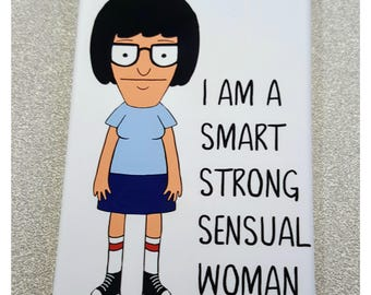Tina Bob's Burgers smart strong sensual woman quote inspired refrigerator magnet comics illustration