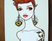 """Alison 8x10"""" print on wood, home decor by Brenda Dunn. On sale from 30"""
