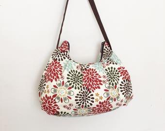Pleated Bag // Shoulder Purse - Kennedy Floral