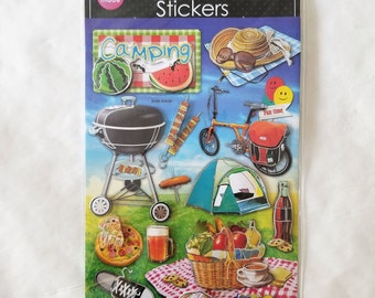 Camping Stickers 3-D Dimensional Hand Made