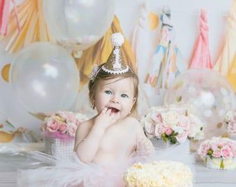 First Birthday Tutu, Cake Smash Tutu, 1st Birthday Outfit Girl Tutu, SEWN Tutu Skirt, Tulle Skirt, Pink Tutu, Cake Smash Outfit Girl Tutu