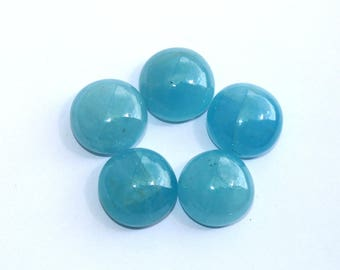 1 Pc 19mm Finest Quality Natural Milky Aquamarine Smooth Round Cabochon / Semiprecious Loose Gemstone Cabochon LR58