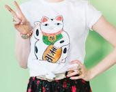 SALE Lucky Cat Tee