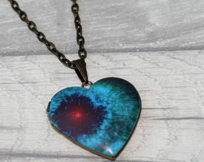 Galaxy Locket Necklace, Space & Stars Necklace