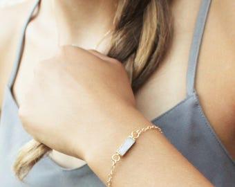 Druzy Bracelet, Gift for Women, Bridesmaids Gifts, The Silver Wren, Gift Idea, Crystal Druzy Jewelry, Dainty Bracelet, Gold Bracelet