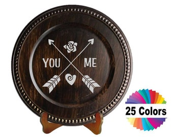 Charger Plate Decal Home Decor You & Me Hobo Adventure Quote Quotation Crossed Arrows Car Window Laptop Wall DIY Choose From 25 Colors
