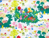 Disney Licensed Fabric  Alice in Wonderland 50  cm by 106 cm or 19.6 by 42 inches  NC23