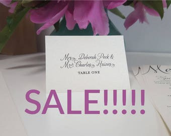 Wedding Place Card Clearance!!! Save 25% MOVING SALE