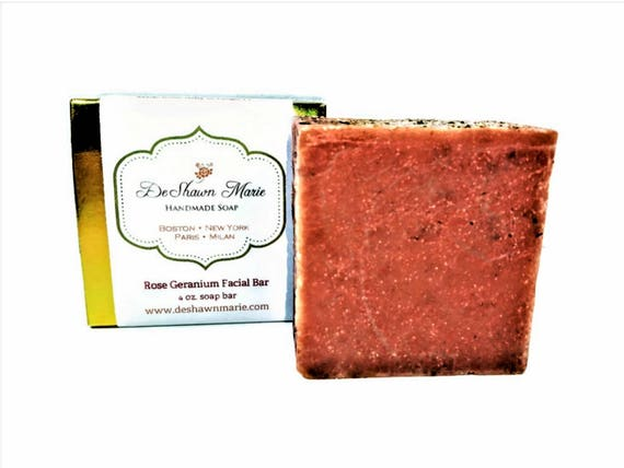 SOAP - Rose Geranium Soap, Facial soap, Cold Process Soap, Vegan Soap, Organic Soap, Soap Gift, Mother's Day Gift, Christmas Gift, Birthday