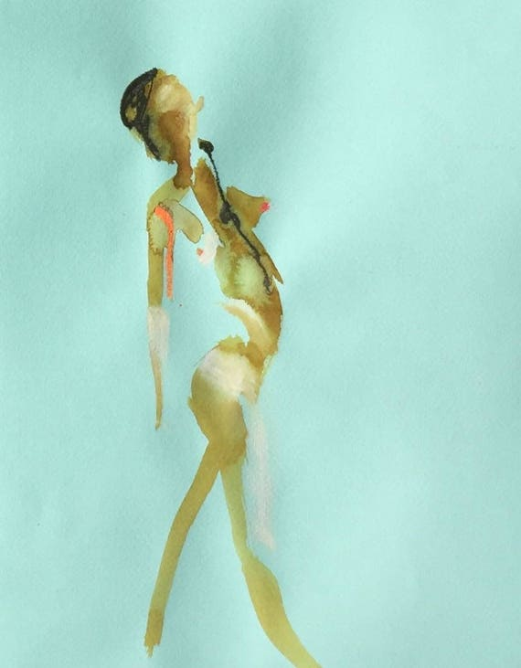 Nude painting of One minute pose 109.4 Original painting by Gretchen Kelly