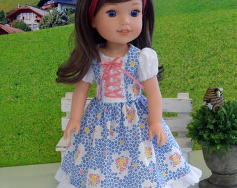 Spring Frauline - Dress, socks & shoes for Wellie Wisher doll