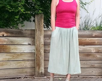 Gathering Skirt tea length (hemp and organic cotton)