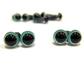 5 pair 8mm Shimmer Color Craft Eyes for stuffed animals, toys and amigurumi