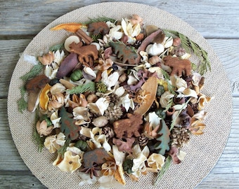 Old Country Lodge Potpourri, Rustic, Room Scent, Sportsman Potpourri, Lodge Decor, Black Bear, Moose, Botanicals, Refresher Oil Included
