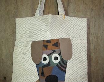 Wide-eyed Dog Tote Bag