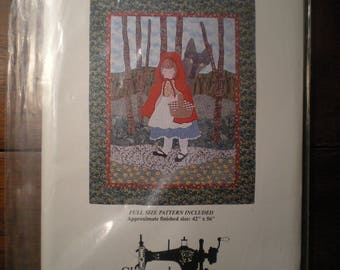 Red Riding Hood and the Wolf applique quilt Pattern by Sandy Boyd Glenwood Sewing Press