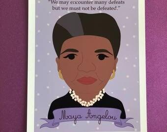 Sheroes Collection: Maya Angelou 8x10 Art Print