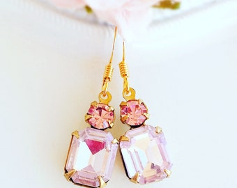 Small Pink Earrings - Spring Jewelry - Quinceanera Gift - REGENCY Pink