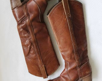 vintage leather boots / brown leather  boots / Miss Capezio boots