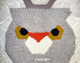 Owl Bag to Weave on Hexagon Looms PDF Pattern by Noreen Crone-Findlay