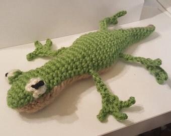 Cuddly stuffed lizard
