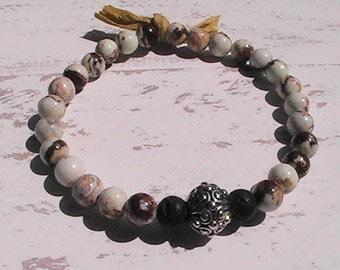 diffuser bracelet. diffuser lava rock beaded bracelet. lemon chrysoprase gemstone bracelet.handcrafted jewelry.