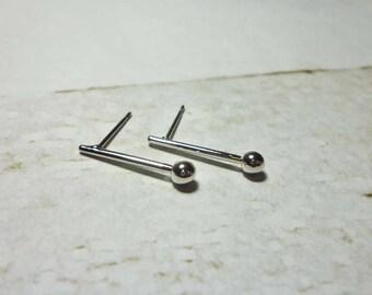Ball Drop Stud Earrings, Geometric Earrings