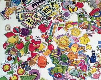 433 Scrapbook Paper Ephemera, Hand Cut, Cartoon Style Cutouts, Animals, Holidays, Fish, Birds, etc, Collage,  Mixed Media, Decoupage Supply
