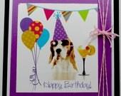 Birthday card for her, funny birthday card, Happy Birthday cards, dog birthday card,  cute birthday card, cocktail, puppy birthday card
