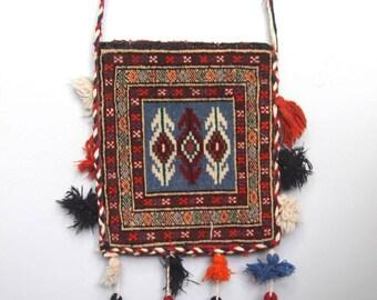 gypset -- vintage carpet bag with tassels and fringe
