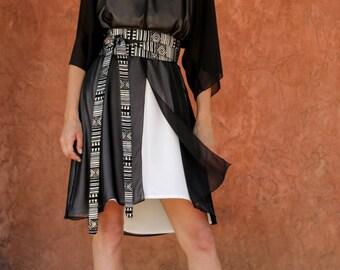chiffon double layered dress  size 1  S - L/ loose dress / oversize / boho chic dress / women's dresses /  Oversized Dress/ Plus size