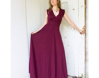 Juliet Dress - Organic Sleeveless V-Neck Maxi Dress (Soy or Bamboo Organic Cotton Jersey) Many Colors Available - Organic Women's Clothing