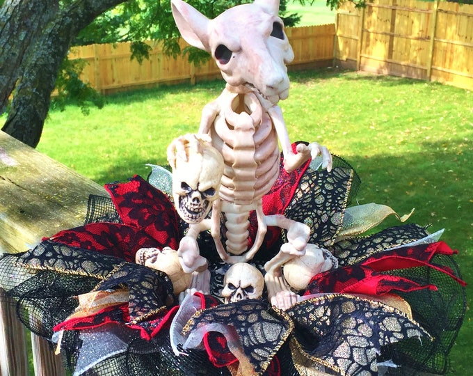 SALE- Rat Skeleton Skull Dia de los Muertos - Day of the Dead Halloween Centerpiece