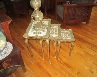Retro/Vintage - Italian - Florentine  - Nesting Tables - 3 - Gold gilt-  Hollywood Regency - Good condition - 1960's