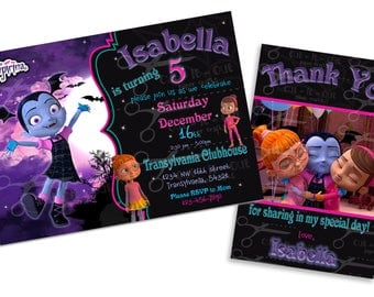Vampirina Digital Birthday Invitation   Disney Vampirina
