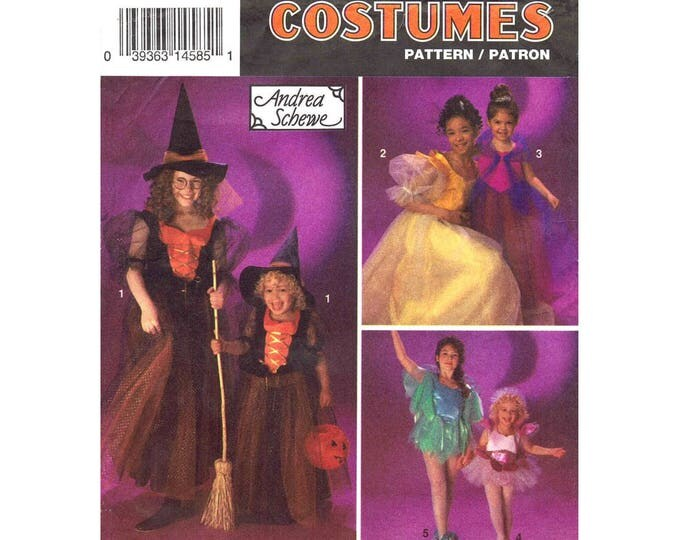 Girls Costume Pattern Simplicity 8647 Halloween Witch Princess Dancer Fairy Size 8 to 12