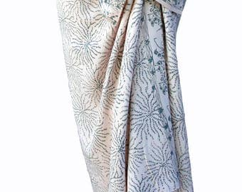 White Beach Sarong Wrap Skirt Women's Clothing Batik Pareo Batik Sarong Wrap Skirt or Dress - Creamy White & Gray Sea Anemone Beach Cover Up