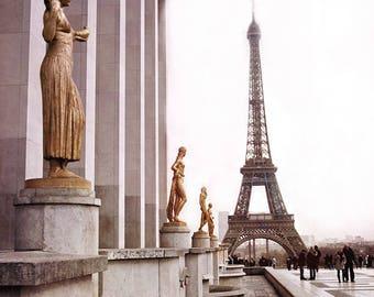Paris Photography, Eiffel Tower Prints, Eiffel Tower Wall Decor, Eiffel Tower Wall Art Prints, Eiffel Tower Trocadero Architecture Paris Art