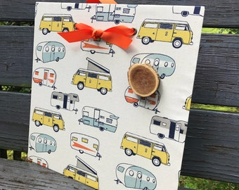 Happy Camper, Magnet Board, Camper Message Board, Magnet Board, Bulletin Board, Camper Organizer, Summer Camper