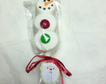 Snowman Marshmallow Pop