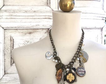 Vintage Findings Assembled Necklace