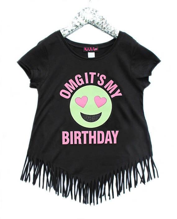 Emoji Birthday Shirt OMG Its My Girls