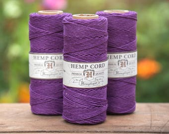 Purple Hemp Cord, 205 Feet,  Beading Cord,  Hemp Jewelry  Cord, Purple  Twine -T25