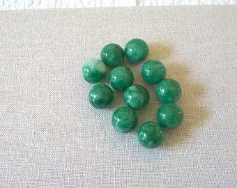 20 mm Round Green  Beads