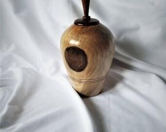 URN - MAPLE - Hand Turned Wood - Pet Urn - Keepsake Box - Lidded Box