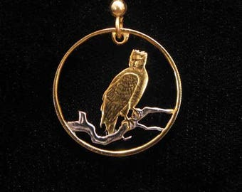 Cut Coin Jewelry - Earrings - Guyana - Eagle