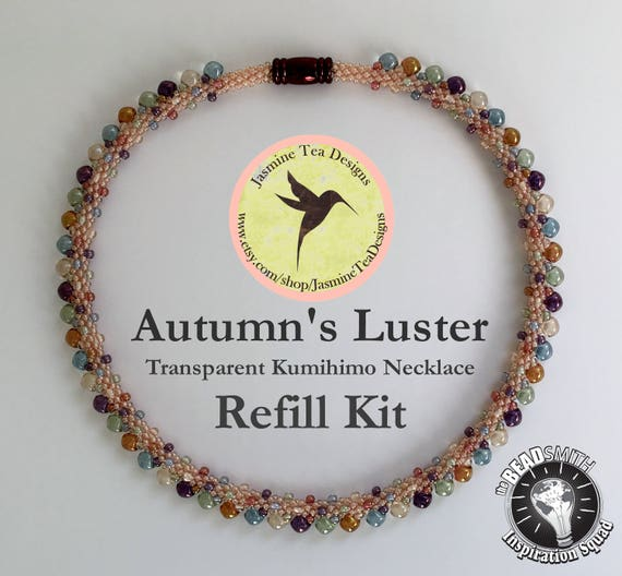 Autumn's Luster, Transparent, Refill Kit, Beads And Clasp Only, Does Not Include Tutorial or S-Lon