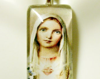Immaculate heart of Mary pendant with chain - GP12-002